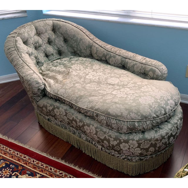 Antique méridienne chaise. This beautiful chaise longue is a snug and comfortable place to read and relax. It has a high...