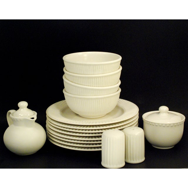 Dansk Rondure Rice White Dinnerware - S/18 - Image 2 of 9