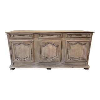 18th Century Bleached Oak Buffet For Sale