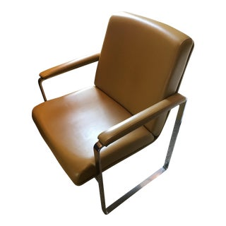 Mid-Century Modern Chromcraft Flat-Bar Chair