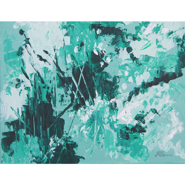 Mint Green-Abstract Painting - Image 1 of 2