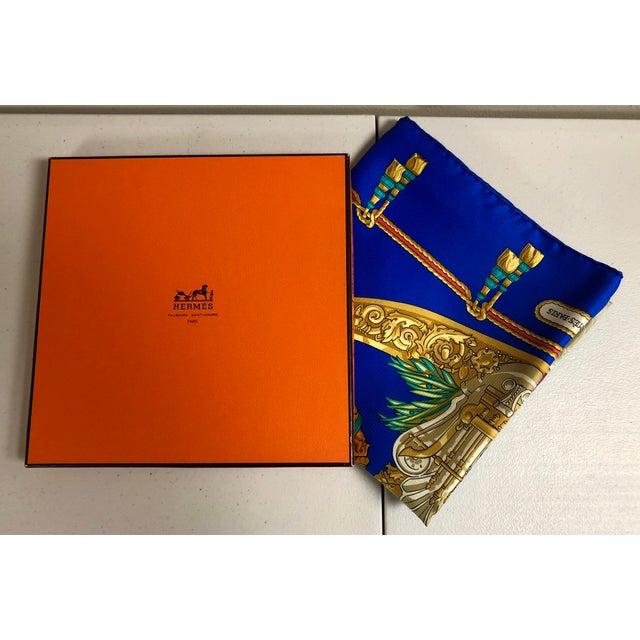 Belle Epoque Hermès Homage a Charles Garnier Silk Scarf For Sale - Image 3 of 7