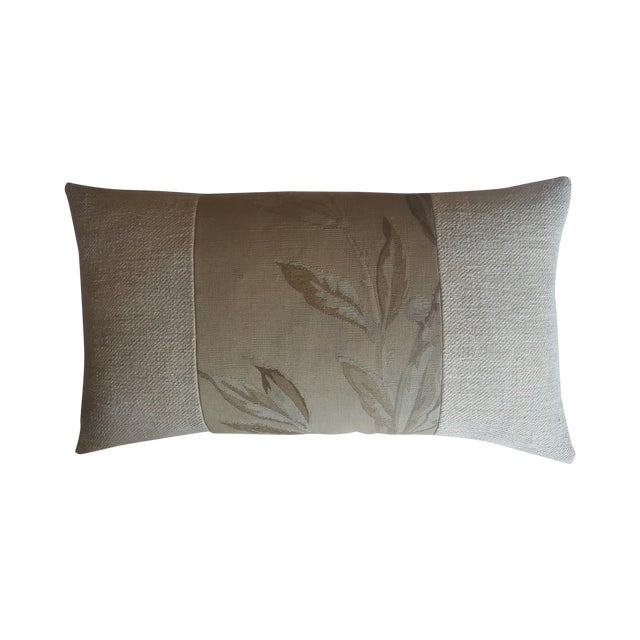 French Aubusson & Hemp Pillow - Image 1 of 3
