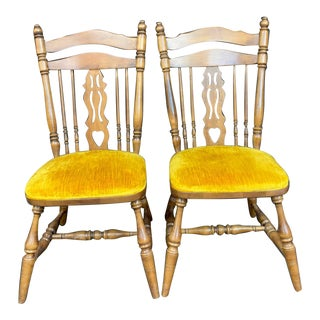 Maple Dining Chairs - a Pair For Sale