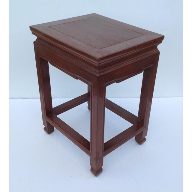 Asian Oak Low Occasional Side Table For Sale In West Palm - Image 6 of 11