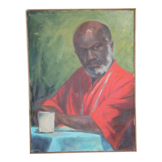 Late 20th Century Morning Portrait Painting For Sale