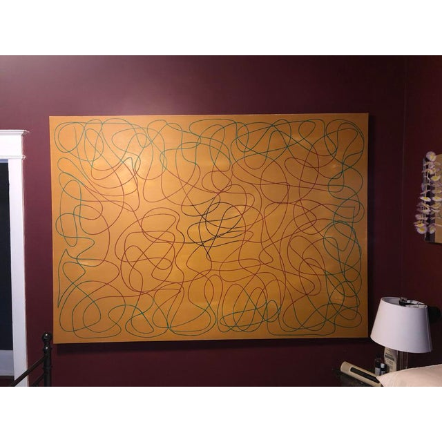"""Acrylic Painting by Artist Troy Smith - Title, Draw The Line. Contemporary Art - Abstraction Dimensions - 60"""" x 84"""" x 2..."""