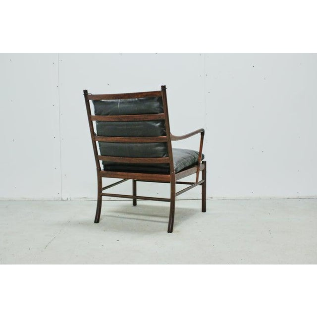 Rosewood Ole Wanscher Colonial Chair, P. Jeppesens Møbelfabrik, Denmark, 1960s For Sale In Philadelphia - Image 6 of 13
