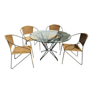 Russell Woodard Wrought Iron Salterini Dining Patio Table Chair Last Call For Sale