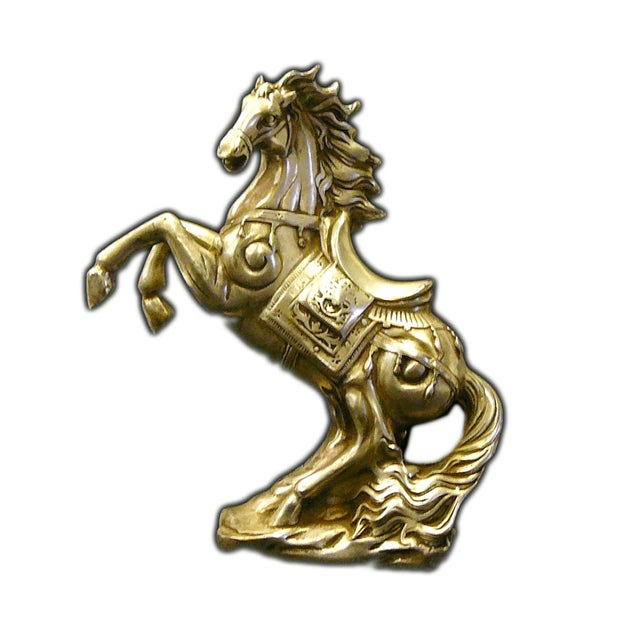 Chinese Pewter Horse Figure For Sale