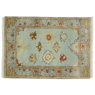 Vintage Contemporary Oushak Accent Rug- 2′1″ × 2′11″ For Sale