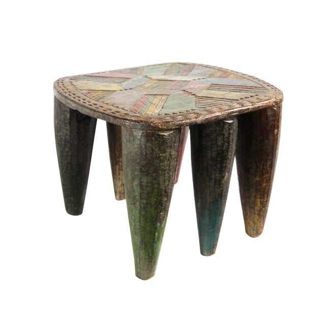 Authentic Nigerian Agaie Old Nupe Stool For Sale
