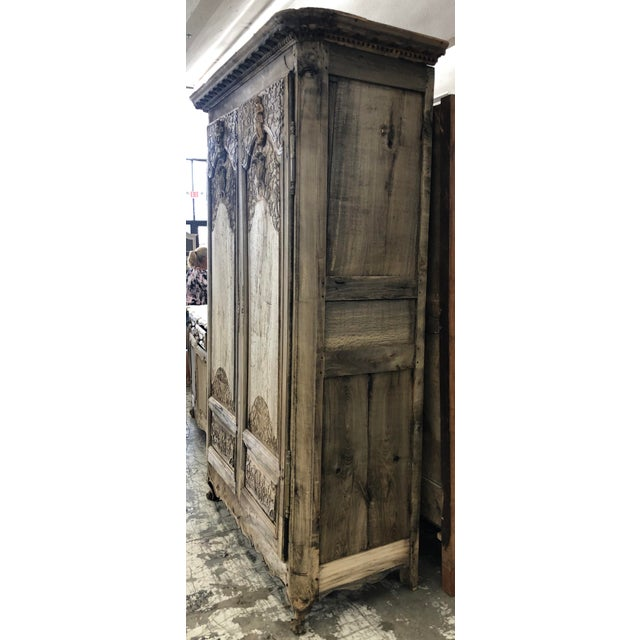 18th Century 18th. C. French Renaissance Carved Armoire For Sale - Image 5 of 13