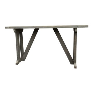 Handmade Wood Console For Sale