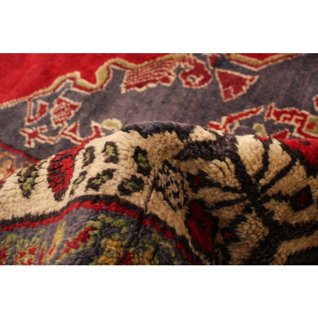 Vintage Turkish Red Rug For Sale - Image 6 of 9