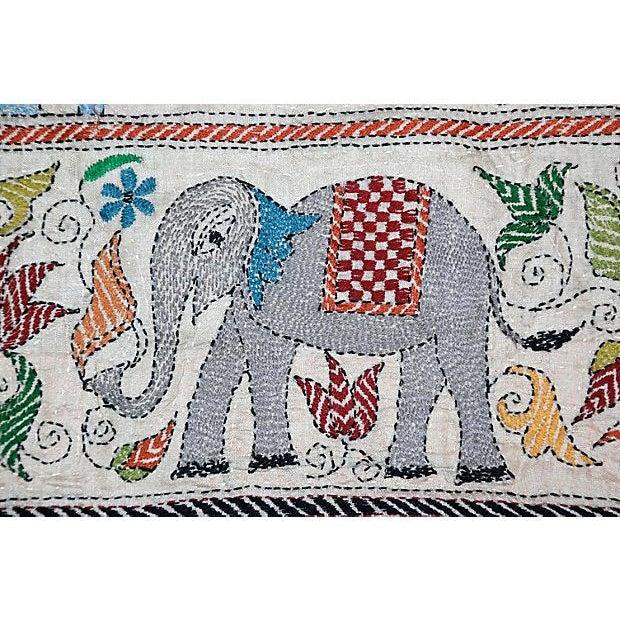 Silk Kantha by Sreelata Sarkar For Sale - Image 7 of 8