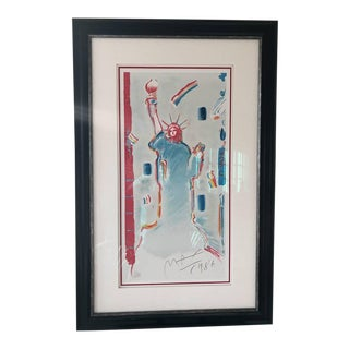 """1980s Peter Max """"Statue of Liberty 1986"""" Print For Sale"""