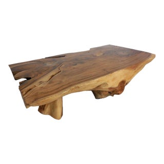 Tropical Hardwood Root Coffee Table For Sale