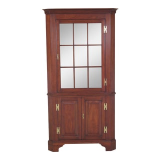 1987 Henkel Harris Cherry Finish Corner China Cabinet