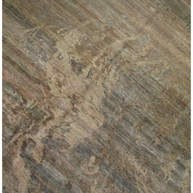 "Abstract Hand-Knotted Rug - 8′ × 9′11"" - Image 5 of 10"