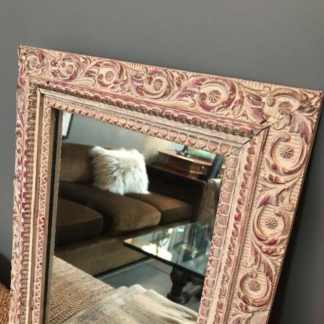 Vintage Carved Wood Mirror - Image 5 of 6