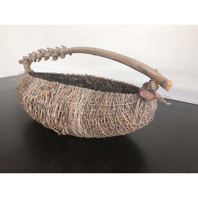 Organic Modern Samuel Yao Handwoven Basket For Sale In Atlanta - Image 6 of 9