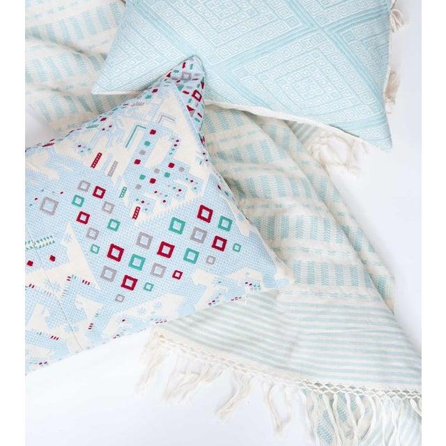 Serenity Blue Handwoven Guatemalan Pillow - Image 4 of 7