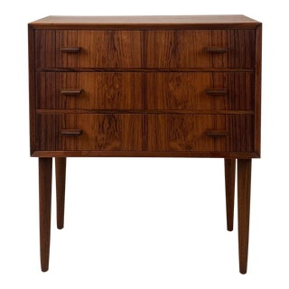 Vintage Danish Rosewood 3-Drawer Chest For Sale