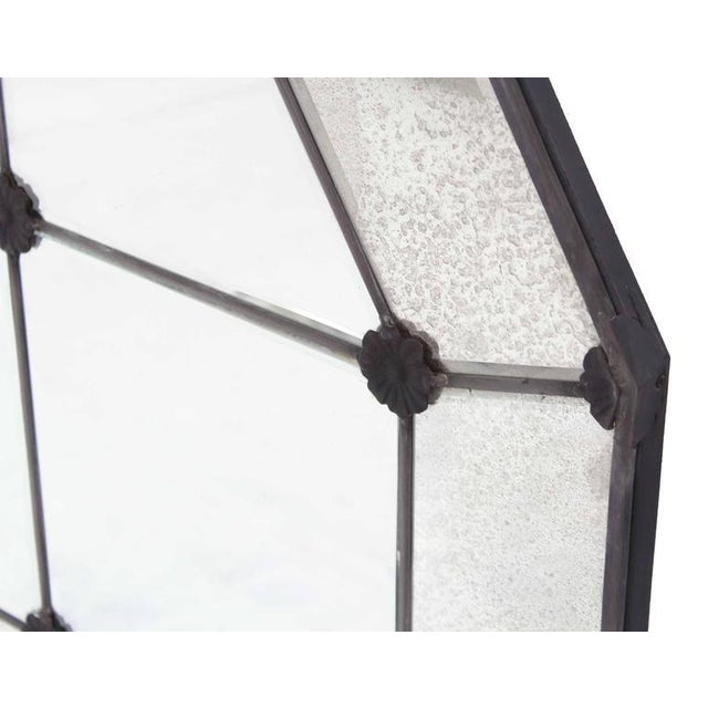 Glass Pair of Large Octagon Wall Mirrors For Sale - Image 7 of 8