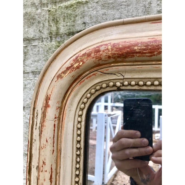 Large 19th Century Louis Philippe Mirror With Original Reflector For Sale - Image 6 of 12