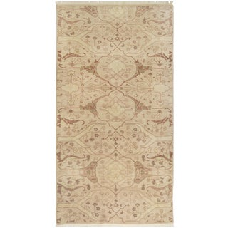 Mansour Fine Handmade Agra Rug - 5′ × 7′ For Sale