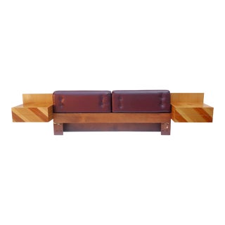 Mid-Century Modern Kingsize Headboard With Nightstands by Rougier For Sale