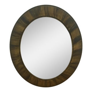 Vintage Oval With Beveled Glass Mirror For Sale