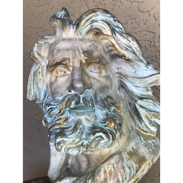Late 20th Century Neo-Classical Neptune/Poseidon Plaster Bust For Sale - Image 4 of 6
