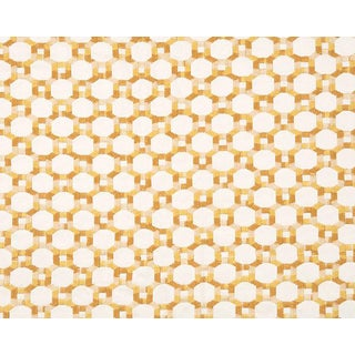 Hinson for the House of Scalamandre Island Trellis Fabric in Yellow For Sale