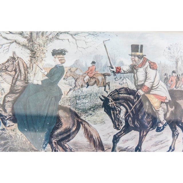 'Gone Away' Fox Hunting Etching - Image 4 of 6