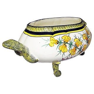 Quimper Vintage 1940s Floral Faience Tureen Preview