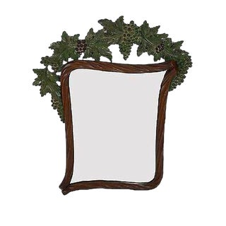 Bettis Brooke Grapevine Carved Hanging Wall Mirror For Sale