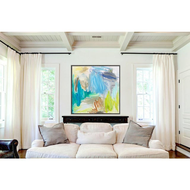 """""""Huka Falls"""" by Trixie Pitts Large Abstract Oil Painting For Sale - Image 9 of 13"""