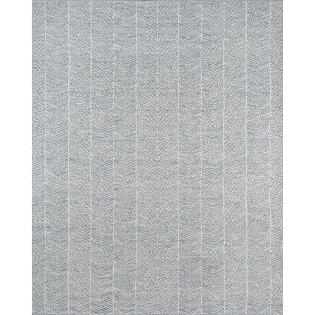 Plastic Erin Gates by Momeni Easton Congress Grey Indoor/Outdoor Hand Woven Area Rug - 7′6″ × 9′6″ For Sale - Image 7 of 7