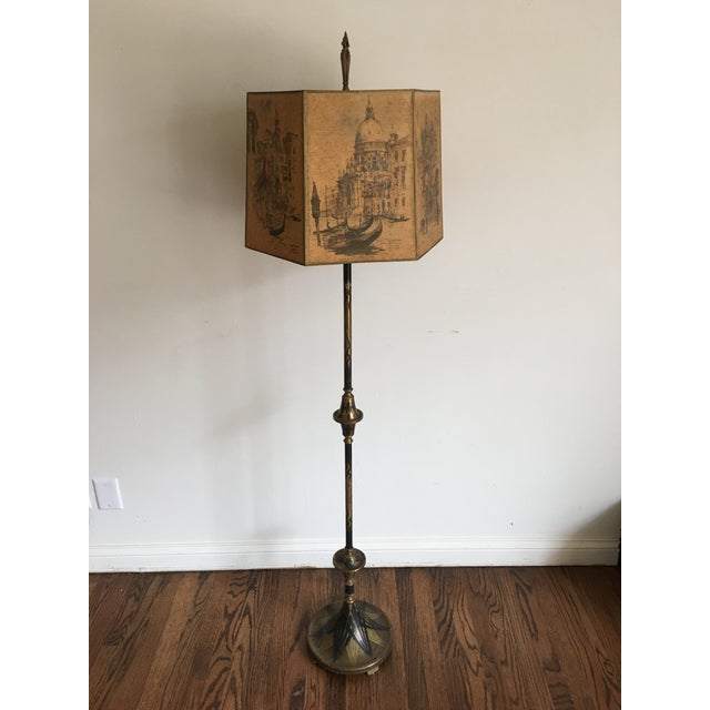 Art Deco Floor Lamp With Original Shade Chairish