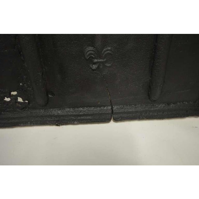 Early 18th Century 18th C. French Large Square Fireback For Sale - Image 5 of 9