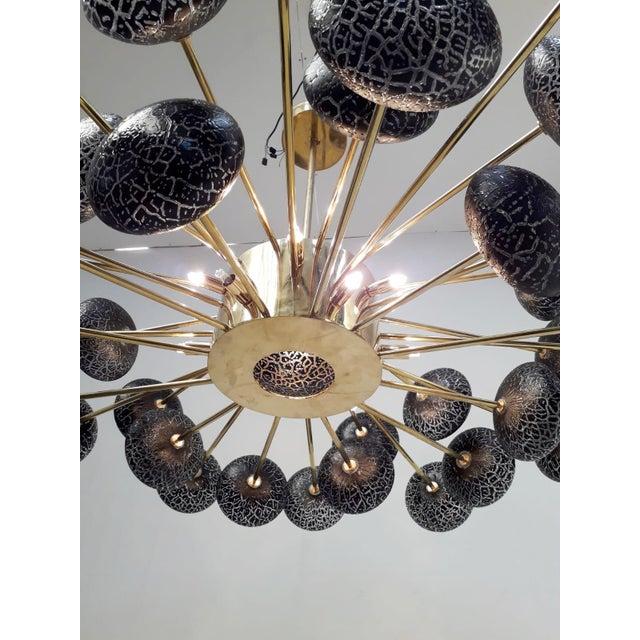 Crackled Globes Chandelier by Fabio Ltd For Sale - Image 9 of 12