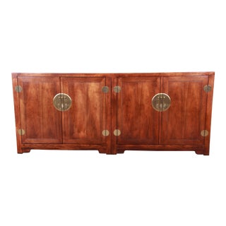 Michael Taylor for Baker Far East Collection Chinoiserie Sideboard Credenza For Sale