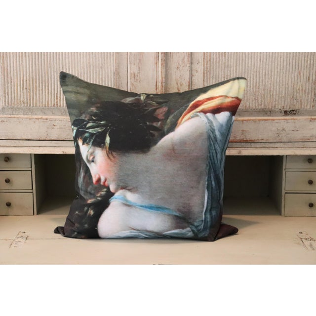 Blue Angel Painting in the Louvre Photo Pillow For Sale - Image 8 of 13