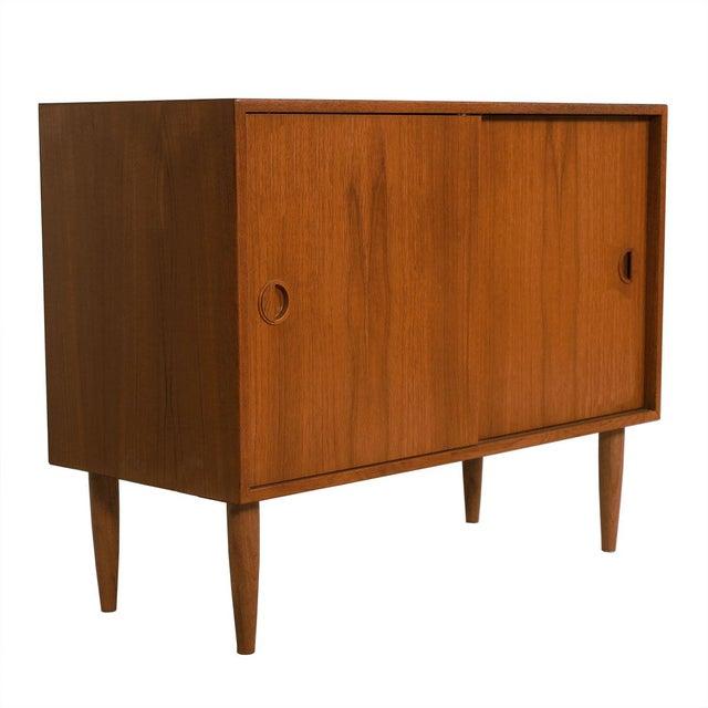 Petite Danish Modern Teak Bar Cabinet - Image 1 of 10