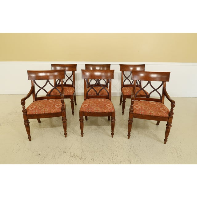 Wood Stickley French Style Dining Room Table & Chairs Set - 7 Pieces For Sale - Image 7 of 13