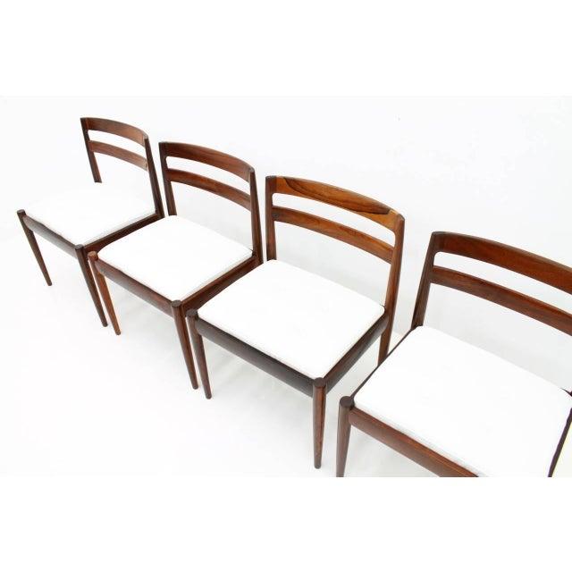 "White Kai Kristiansen Dining Chairs ""Universe 301"" for Magnus Olesen Denmark 1960s For Sale - Image 8 of 13"