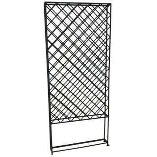 Large Standing Lattice Wrought Iron Wine Racks For Sale