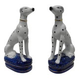 Image of Staffordshire Style Dalmatian Bookends - a Pair For Sale